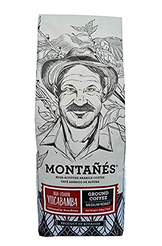 Montañés Single Origin Ground Gourmet Coffee (Vilcabamba) - Medium Roasted Premium Arabica Coffee Directly From Ecuador