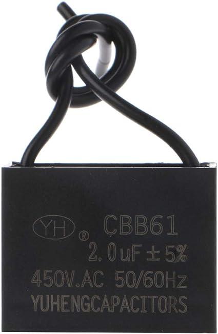 Bogji - CBB61 450V 1/2/3/4/5/6/10 uF motor del ventilador de techo ...