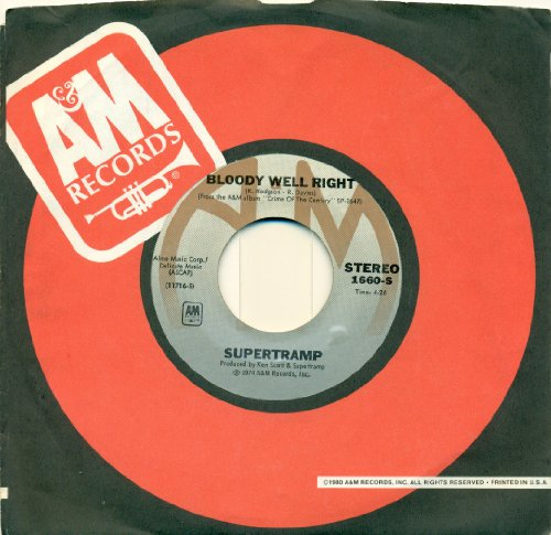 Supertramp - Bloody Well Right / Dreamer-45 Rpm 1975 - Lyrics2You