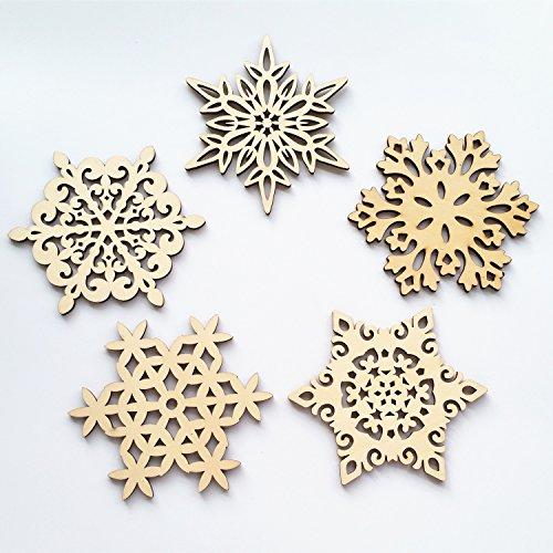 Yunko Set of 5 Wood Snowflake Coasters C - Christmas Coasters Shopping Results