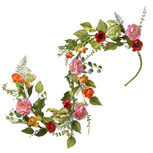 (National Tree 5 Foot Spring Floral Garland with Mixed Flowers and Green Leaves (RAS-150329-1))