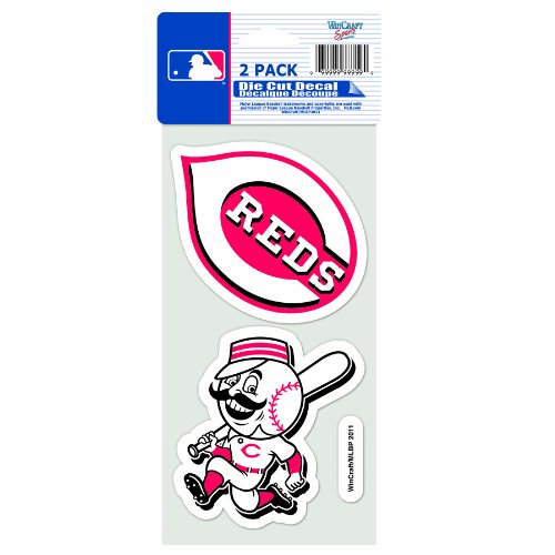 MLB Cincinnati Reds 2-Piece Die-Cut Decal, 4