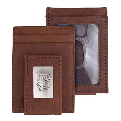 Eagles Wings FSU Florida State University Wallet Front Pocket Leather - State University Leather Florida