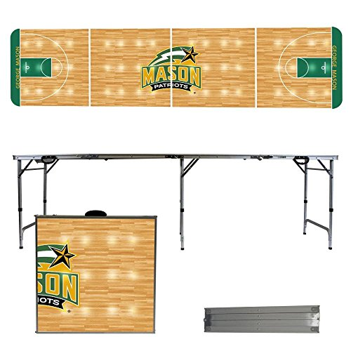 - NCAA George Mason University Patriots Basketball Court Version 8 Foot Folding Tailgate Table, Multicolor, One Size