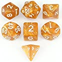 アイディアおもちゃオレンジ7個 ダイス クトゥルフ ボードゲーム カードゲーム用 ダイス セット サイコロ