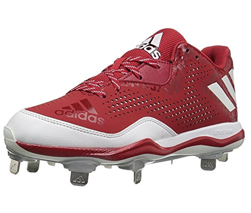 adidas Men's Freak X Carbon Mid Baseball Shoe, Power Red/White/Silver Metallic, (9.5 M US) by adidas