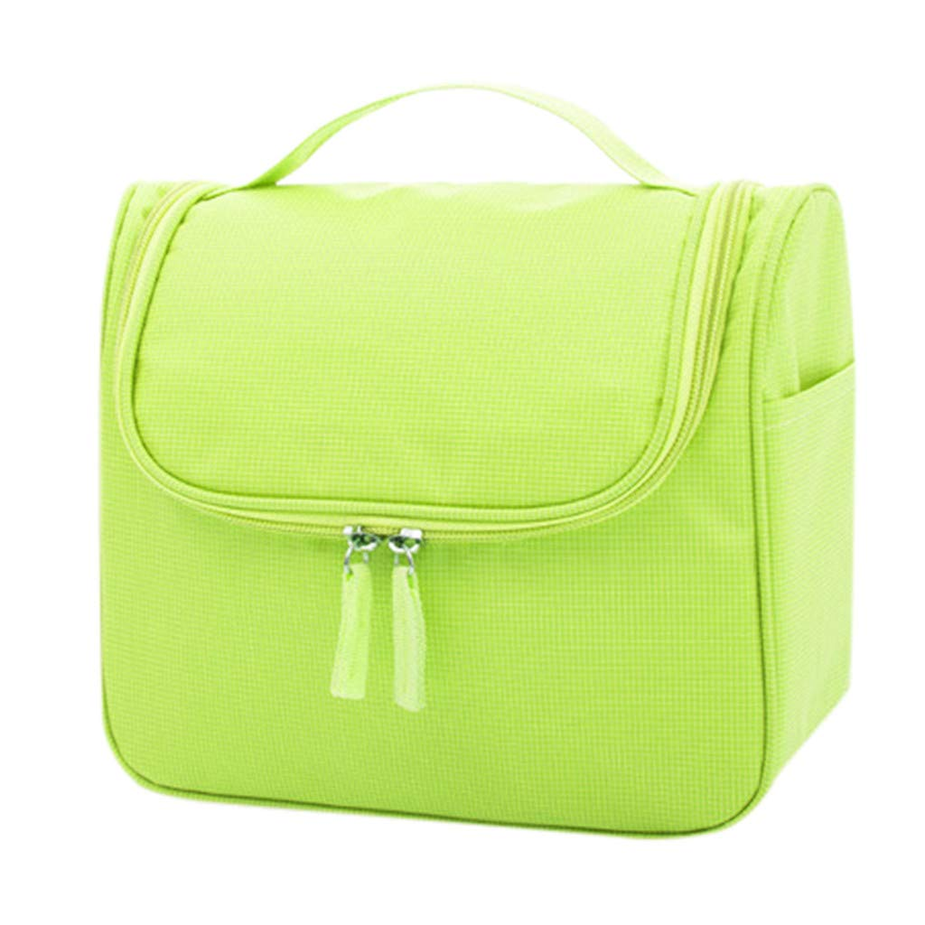 Pure Color Waterproof High-Capacity Makeup Bag Storage Bag Hand Hanging Wash BagHandbags&Clutches&Evening Bags