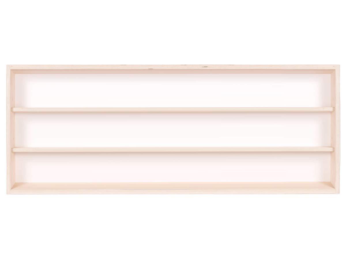 3 Ripiani 2 Ante plexiglass scorrevoli in Legno di Betulla Non trattato Collezionismo Alsino V80.3 Vetrina espositiva Scala N e H0 80 x 30 x 8,5 cm Modellismo