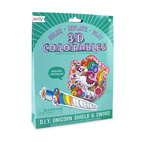 3D Colorables - Unicorn Shield & Sword