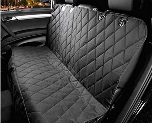 NICREW Quilted Hammock Dog Car Seat Cover, Waterproof Seat Protector for Pets, Black