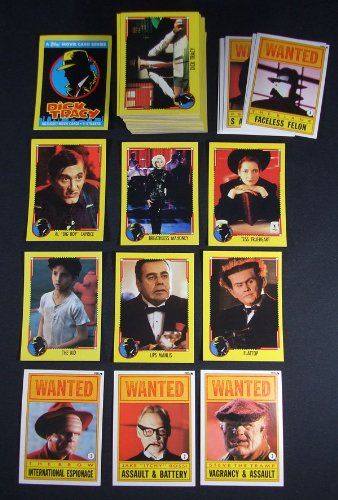 1990 Topps Dick Tracy Trading Card Set with sticker set Nm/Mt ()
