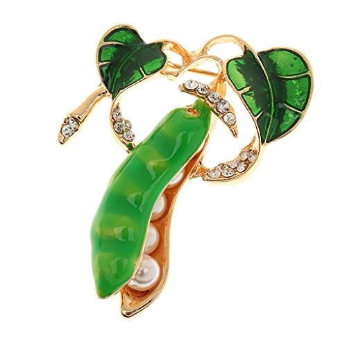 - Prettyia Brooch Lot Fashion Women Crystal Wedding Party Brooch Pins Christmas Gift - Gold Diamond Peasecod