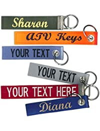 """Custom Name Tape material 4.5"""" and 6"""" LUGGAGE/CRATE Tags with Grommet or Clamp option 2 sizes to choose from! Made in the USA. SHIPS UNDER 24 HOURS!"""