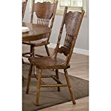 country kitchen table and chairs Coaster Home Furnishings 104262 Country Dining Chair, Oak, Set of 2