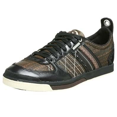 Amazon.com: Diesel Men's Leroy Sneaker,Chestnut/Black,7 M ...