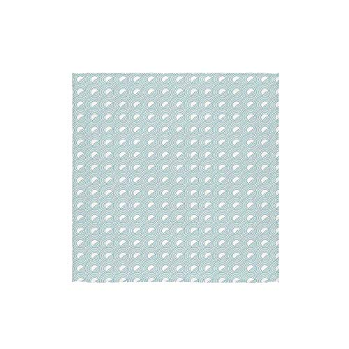 C COABALLA White Durable Square Small Towel,Nested Overlapping Circles Abstract Rising Sun Theme in Cold Colors Serenity for Bathroom,13