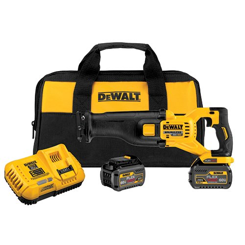 DEWALT DCS388T2 FLEXVOLT 60V MAX Brushless Reciprocating Saw with 2 Battery (Cordless Recip Saw Kit)