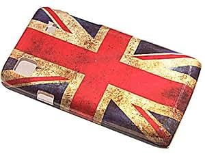 Funda protección PVC Flag UK Vintage Carcasa Case Slim para Samsung S5300Galaxy Pocket