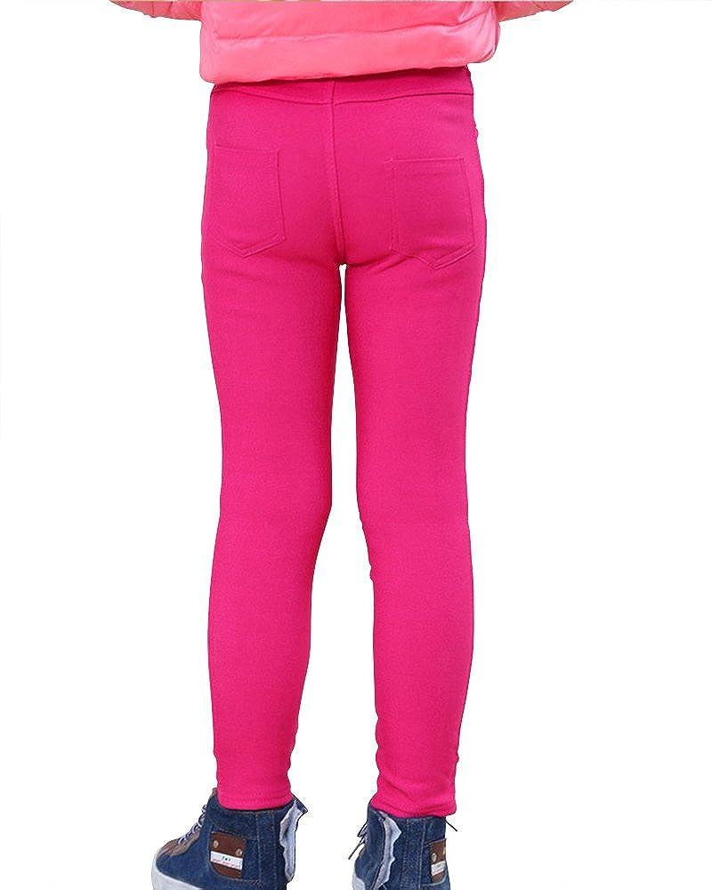 Ni/ña Leggings Cintura Alta Pantalones De L/ápiz Plus Espesamiento El/ástica Jeggings Leggins