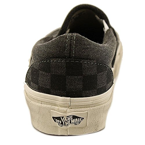 Vans Unisex Adults' Classic Slip On Overwashed Black Checker TAUhKy