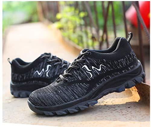Comodas tone Zapatillas S3 Trabajo Senderismo de ranspirables Unisex Unisex Entrenador Ali Deportivos de Antideslizante de Zapatos Hombre con Ligeras Acero Seguridad de Mujer Puntera Negro Zapatillas pdxwgq