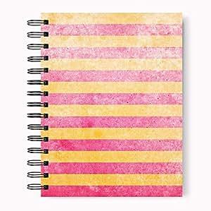 Loud Universe Fun Fuchsia Golden Lanes Hard Bind a4 Size Spiral Notebook