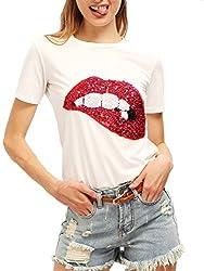 Women's Short Sleeve Print T-Shirts Tops
