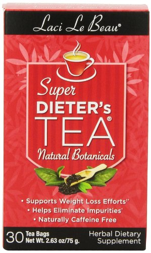 Laci Le Beau Super Dieter's Tea, Natural Botanicals, 30 Tea Bags (Pack of 4)