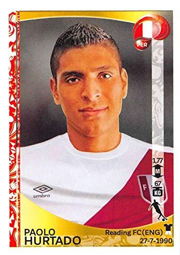 2016 Panini Copa America Centenario Soccer Sticker #202 Paolo Hurtado 2 Inch wide X 3 inch tall album - 2 Album Inch