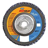 80 Grit 4-1/2'' Diam 5/8-11 Center Hole Type 29 Ceramic Flap Disc