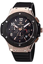 Voeons Men's Chronograph 24 Hr Indicator Military Sports Watches 3ATM Waterproof Gold Stainless Steel Mens Watches