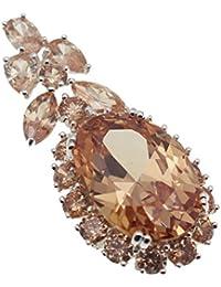 Sterling Silver Pendants Necklace Gemstone Amethyst Citrine Pink Kunzite Women Jewelry