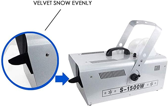DJ Disco Snow Machine Christmas Snow Maker Wired//Wireless Remote Control Xmas Snowflakes Machine Blizzard Effect Blower for Party Stage Parades