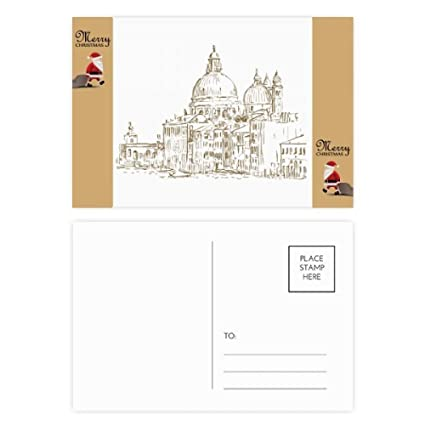 Amazon com : Russia House Landmark Sketch Landscape Santa