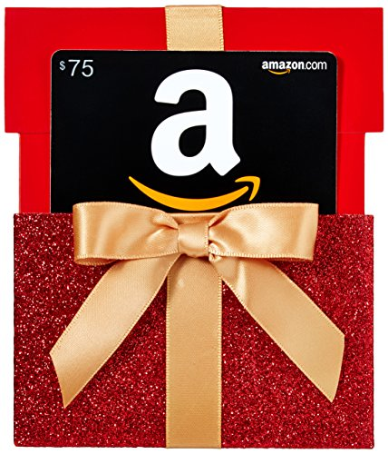 Amazon.com $75 Gift Card in a Gift Box Reveal (Classic Black Card -