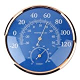 Large Round Thermometer Hygrometer Temperature Humidity Monitor...