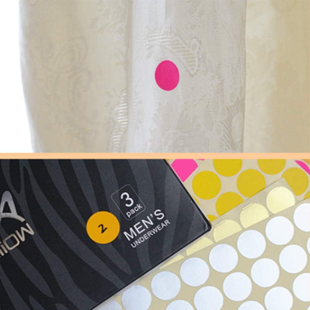 Xinlie Adesivi punto 10mm Punti colla Adesivi colorati punti rotondi Etichette piccole colori codifica 9 colori 18 fogli