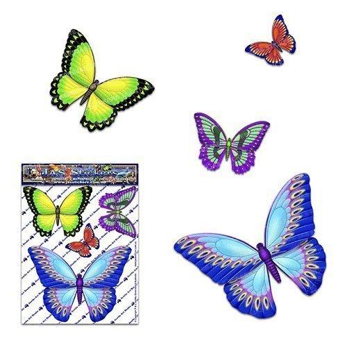 Papillon Multicolore D1 petit animal pack Autocollants de voiture - ST00025MC_SML - Stickers JAS