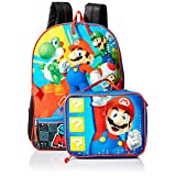 Nintendo Boys' Mario Backpack with Lunch, Blue