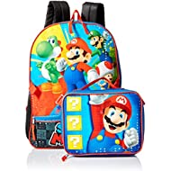 Boys' Mario Backpack with Lunch, Blue