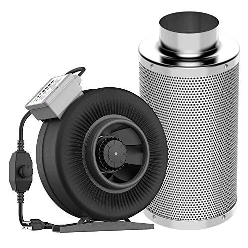 VIVOSUN 6 Inch 440 CFM Inline Duct Fan with 6