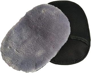 Milnut Imitation Wool Automobile Gloves Car Wash (1-Pack) Silky Plush Wash Gloves Car Cleaning Car Waxing Mitt (Gray)