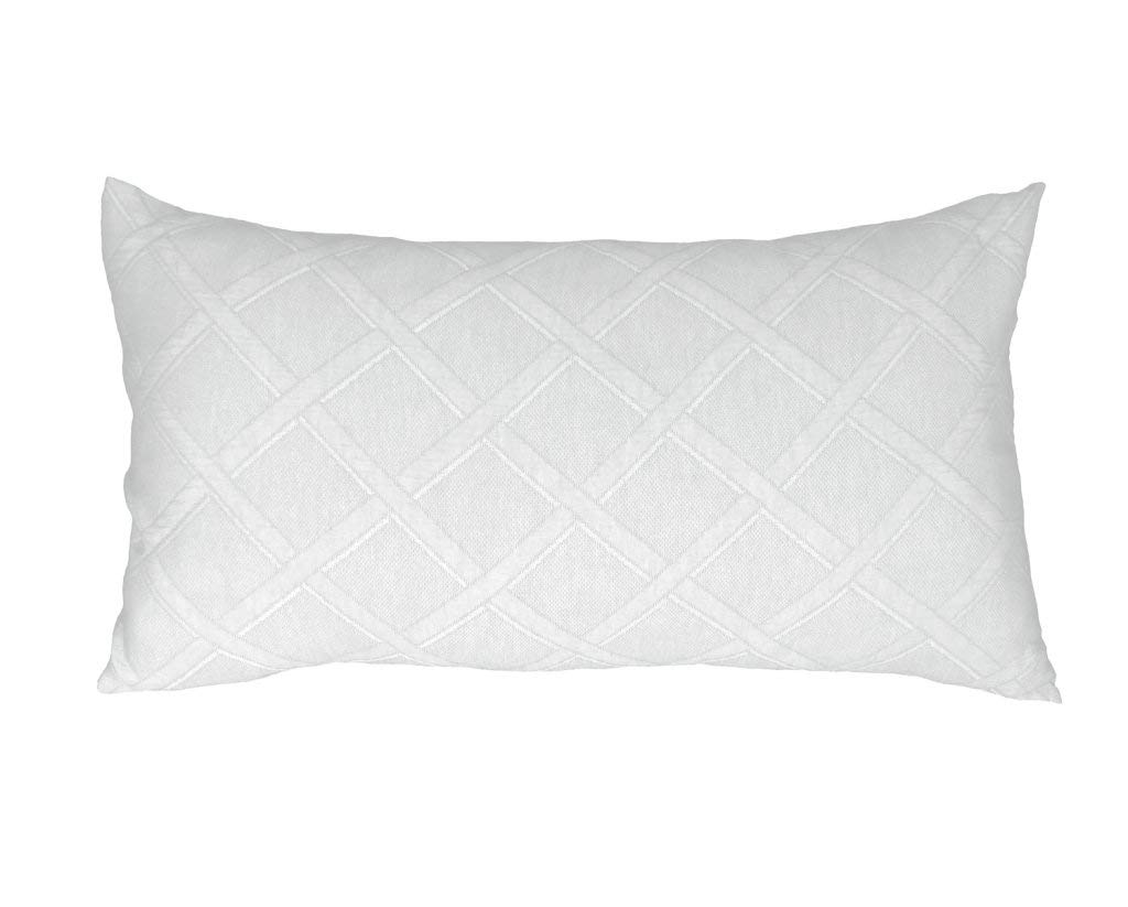 Europa Fine Linens Evora Matelasse Bedding, King Sham Size 20-Inch by 36-Inch, White by Europa Fine Linens