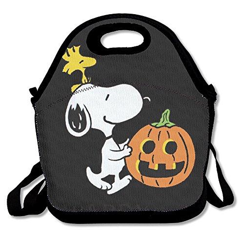 Happy Halloween Snoopy Pumpkin Travel Tote Bag Satchel Bag