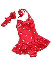 Sept.Filles Baby Girl's Bikini Swimwear Plus Bowknot Headband Swimsuit