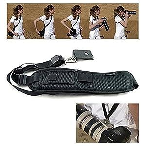 Denshine® Black Single Shoulder Sling Belt Strap for DSLR Digital SLR Camera Quick Rapid