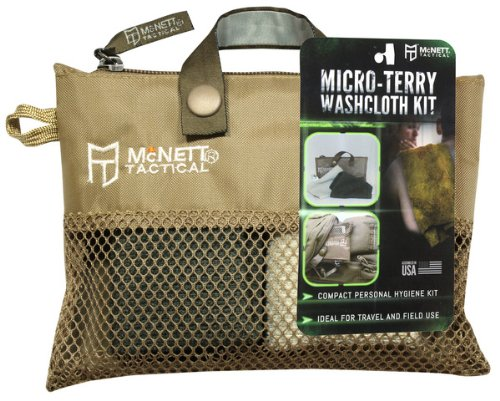 McNett Tactical Micro-Terry Washcloth or Dopp Kit for Travel, two 10'' x 10'' Washcloths by McNett Tactical