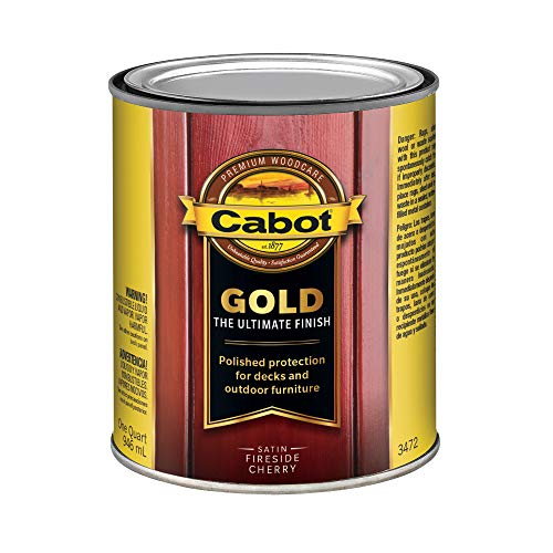 (Cabot/Valspar Corp 3472-05 FireCherry 1 Quart Fireside Cherry Wood Finish,)
