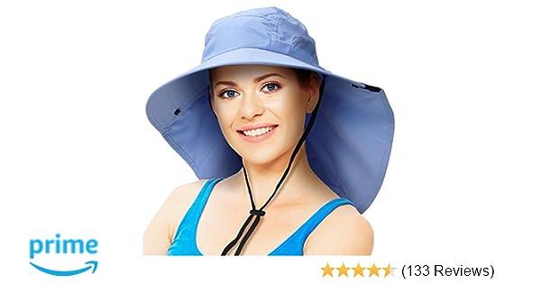 Solaris Outdoor Fishing Hat with Ear Neck Flap Cover Wide Brim Sun  Protection Safari Cap for Men Women Hunting ca85f1b2ca64