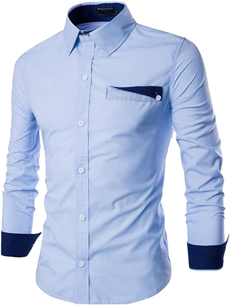 ISSHE Camisas Slim Fit Hombre Camisa Regular Fit Básica Cuello Clásico Camisas de Vestir Formal Caballero Camisas Vestidos Entalladas Casuales Elegantes para Hombres Juveniles Camisetas Manga Larga: Amazon.es: Ropa y accesorios
